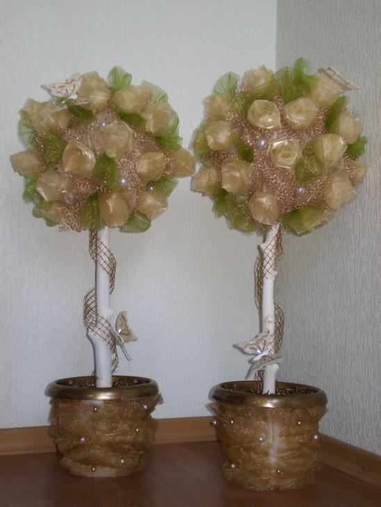 Свадебные деревья из гипса