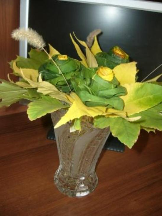 Осенний букет из листьев своими руками поделки