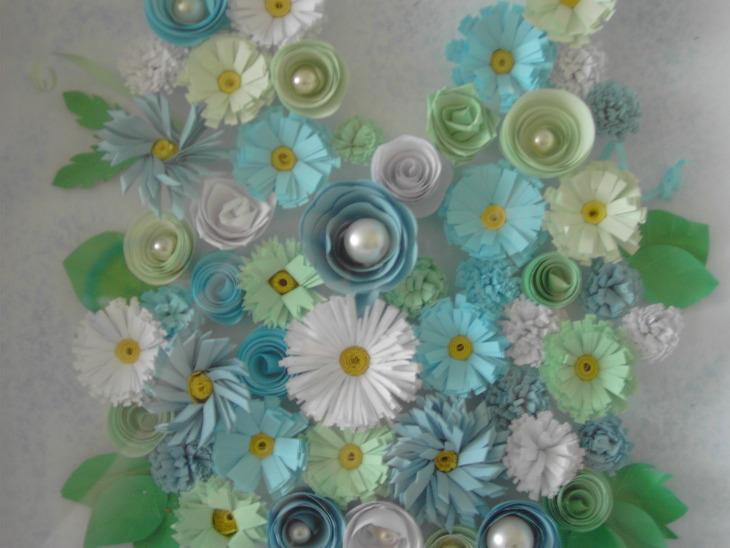 Композиции из цветов из бумаги
